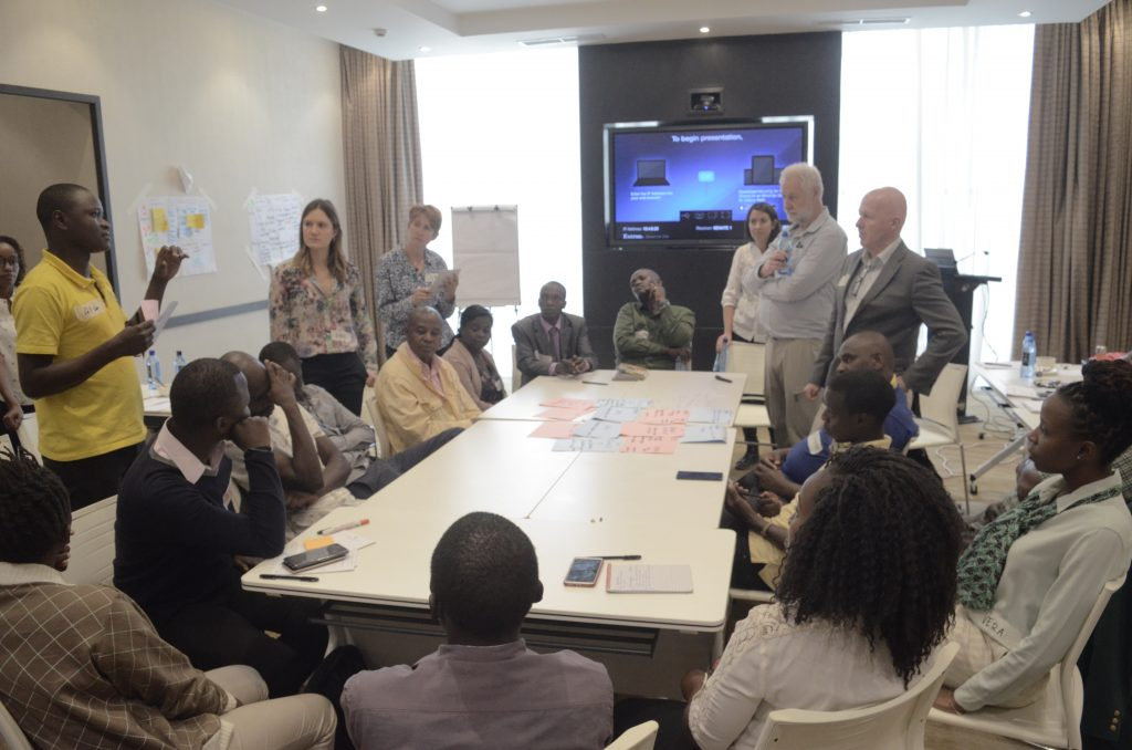 DARAJA stakeholders, including Kenya Meteorological Department, Kenya Red Cross, community members, radio stations and project consortium, at the DARAJA co-design workshop in Nairobi (Source: P. Kipkemboi, 2019)