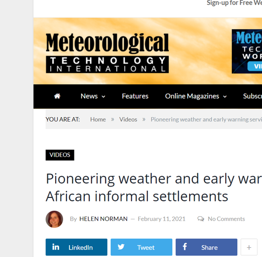Pioneering weather and early warning services for African informal settlements