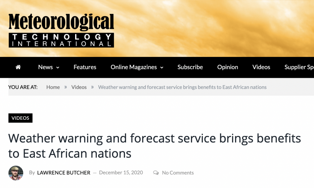 Weather warning and forecast service brings benefits to East African nations
