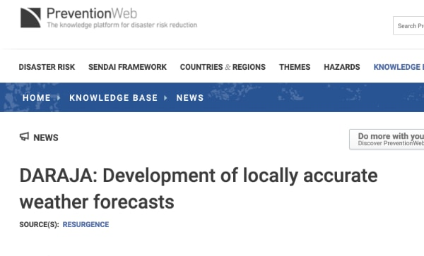 DARAJA: Development of locally accurate weather forecasts