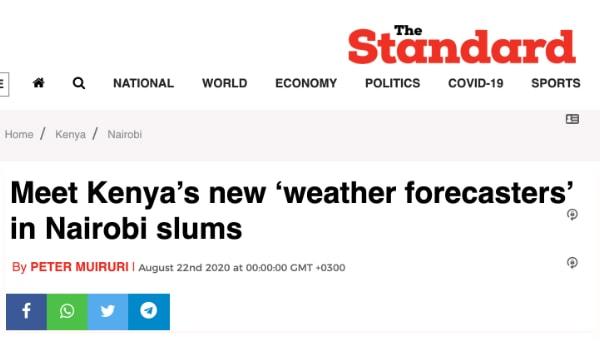 Meet Kenya's new 'weather forecasters' in Nairobi slums