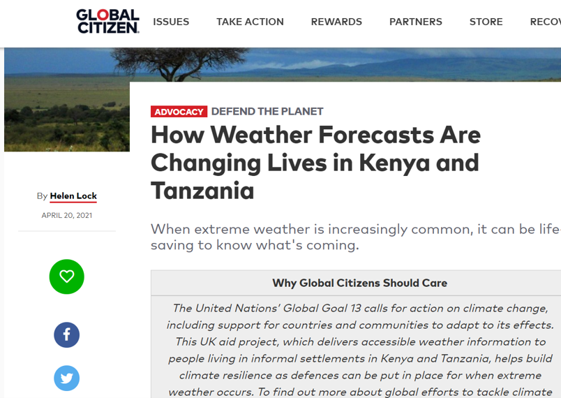 How Weather Forecasts Are Changing Lives in Kenya and Tanzania