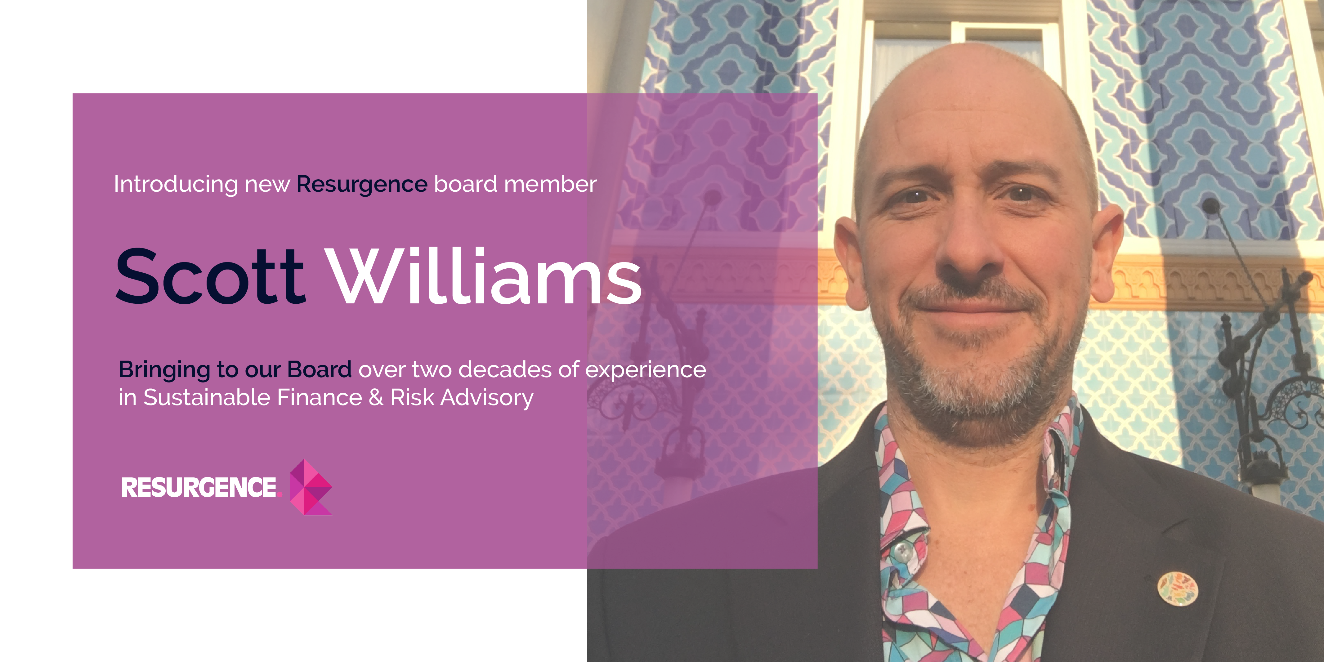 Resurgence welcomes Disaster Risk Management expert Scott Williams to the Board