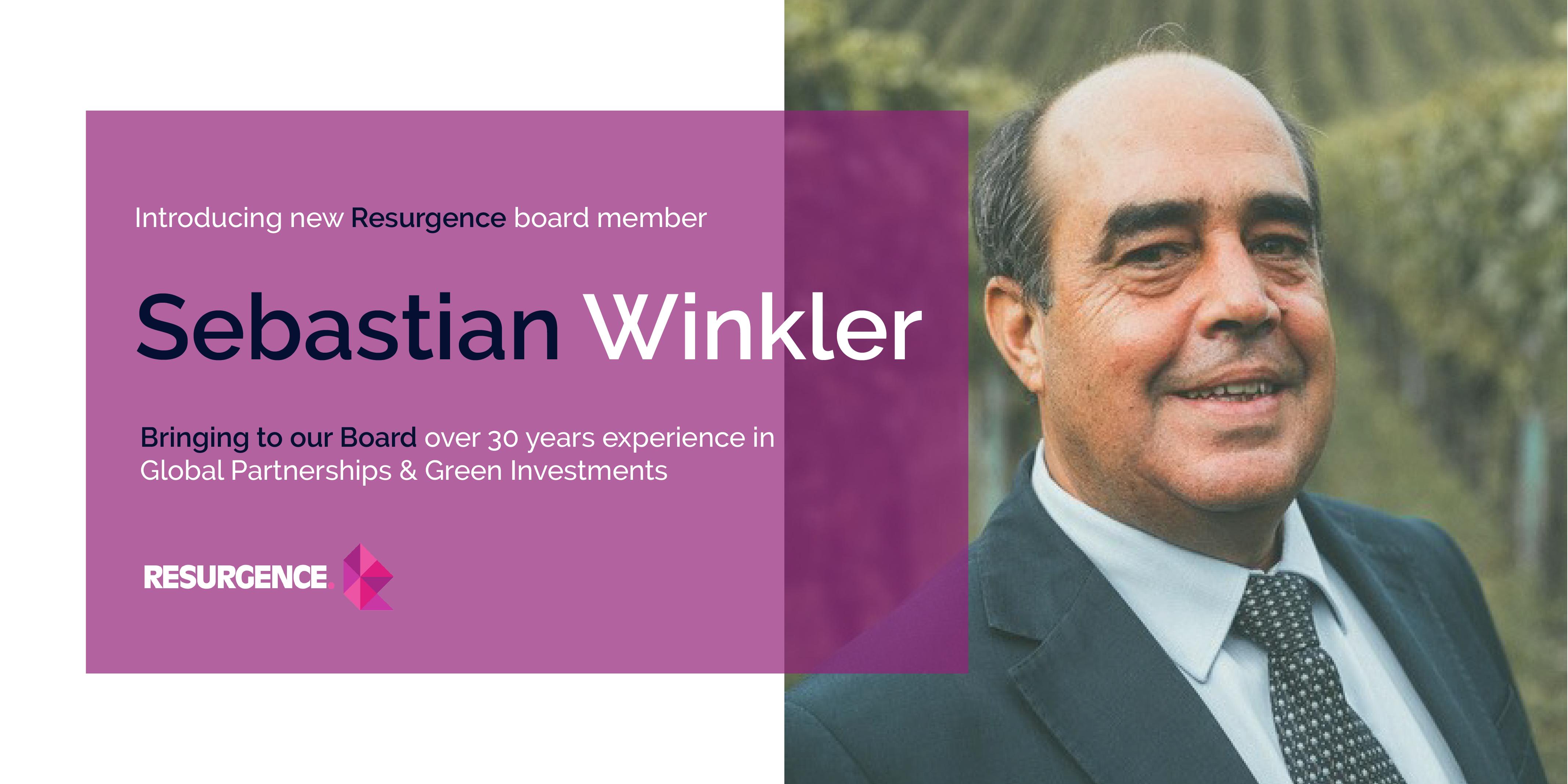 Resurgence welcomes Sebastian Winkler, Senior Advisor to the UN's Nature Based Solutions to the Board